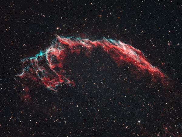 The Eastern Veil Nebula captured using the Sky-Watcher Esprit 100 ED